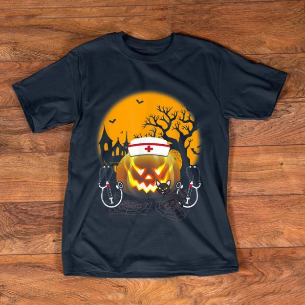 Awesome Black Cat Nurse Costume Halloween Shirt 1 1.jpg