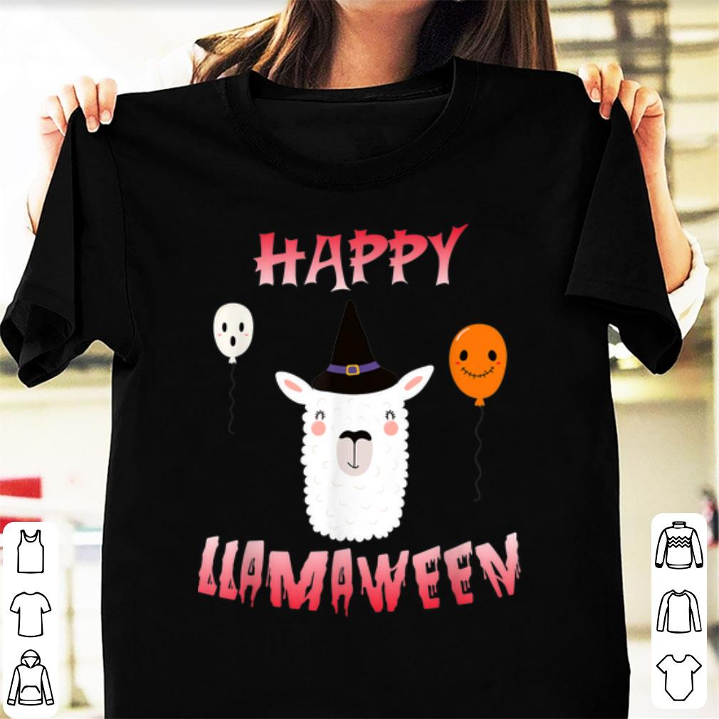 Awesome Cool Llama Witch Costume Halloween Happy Llamaween Shirt 1 1.jpg