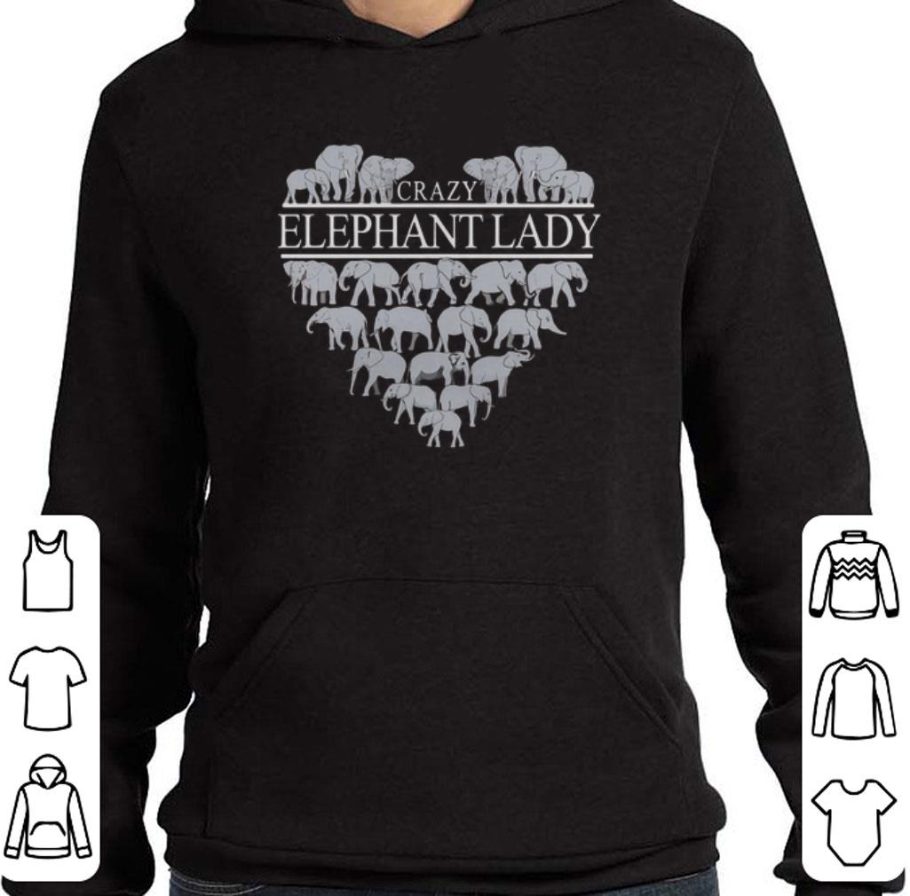 Awesome Crazy Elephant Lady Heart shirt