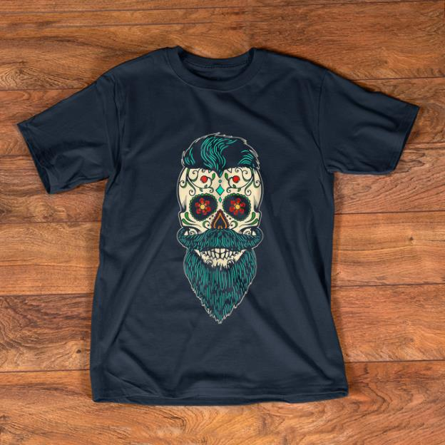 Awesome Day Of The Dead Bearded Sugar Skull Halloween Costume Shirt 1 1.jpg
