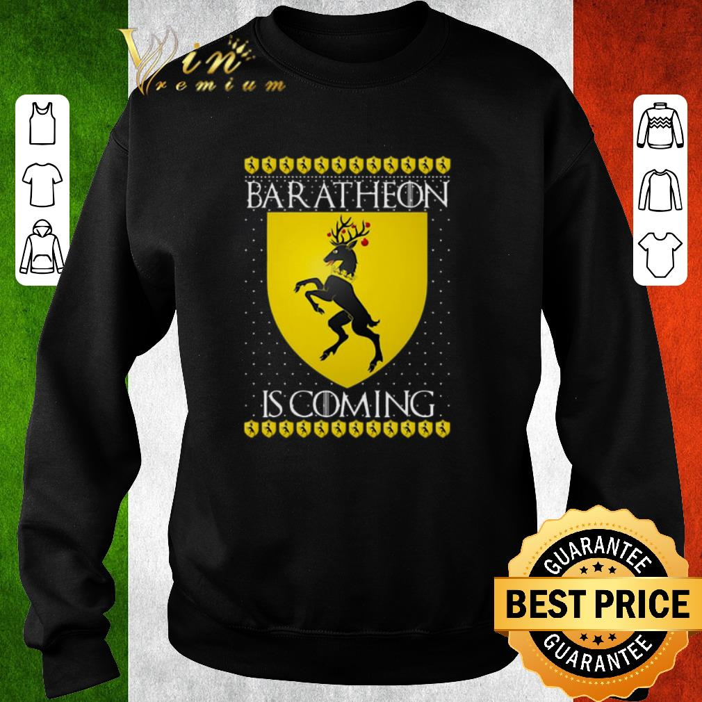 Awesome House Baratheon Is Coming GOT Christmas shirt