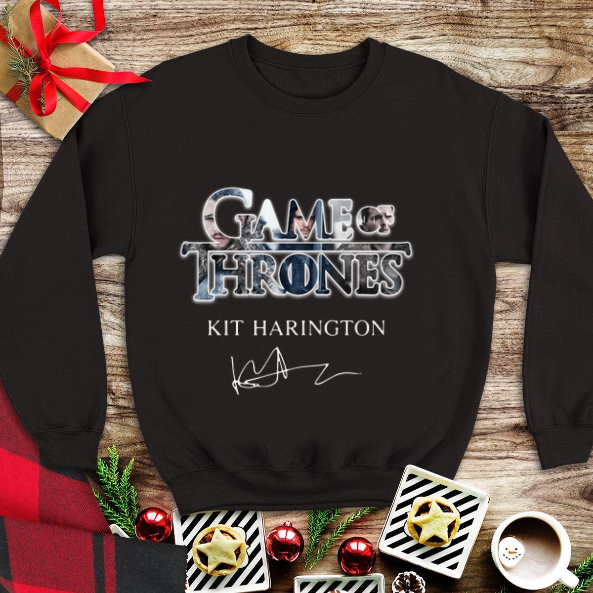 Awesome Kit Harington Jon Snow Game of Thrones Signature shirt