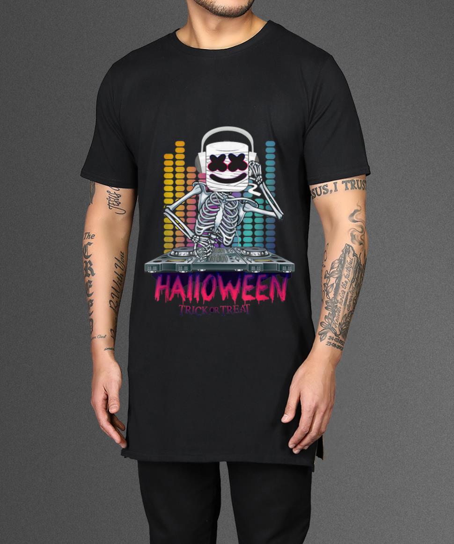 Nice Halloween Trick Or Treat Dancing Dj Goofy Marshmallow Shirt 2 1.jpg