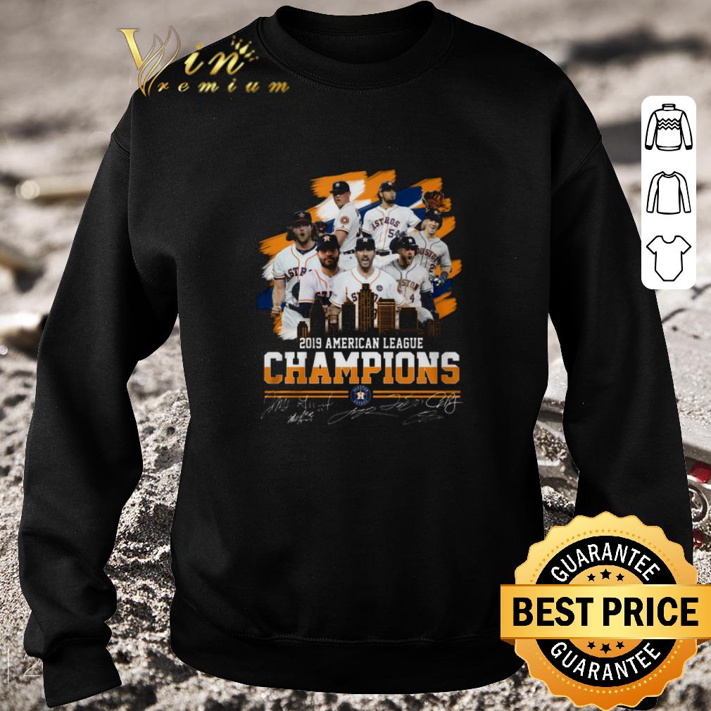 Original 2019 American league champions Houston Astros signatures shirt