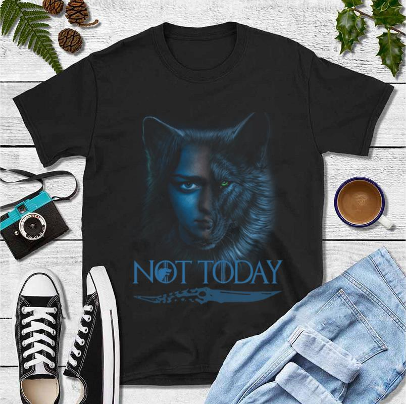 Top Wolf House Stark And Arya Stark Not Today Game Of Thrones shirt