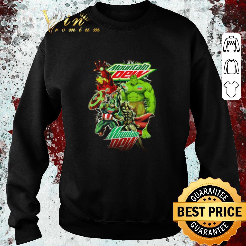 Funny Mountain Dew Avengers Marvel shirt