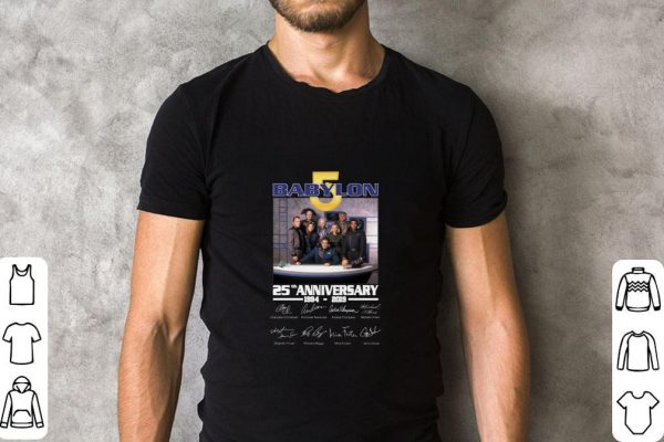 Hot Babylon 5 25th anniversary 1994-2019 signatures shirt