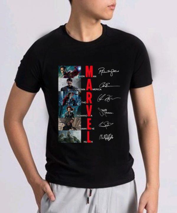 Hot Marvel Iron Man Captain America Thor Romanoff Hawkeye Hulk Signatures Shirt 2 1.jpg