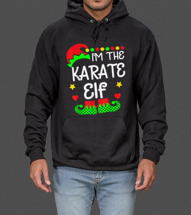 I'm The Karate Elf Christmas Family Elf Costume Tee sweater