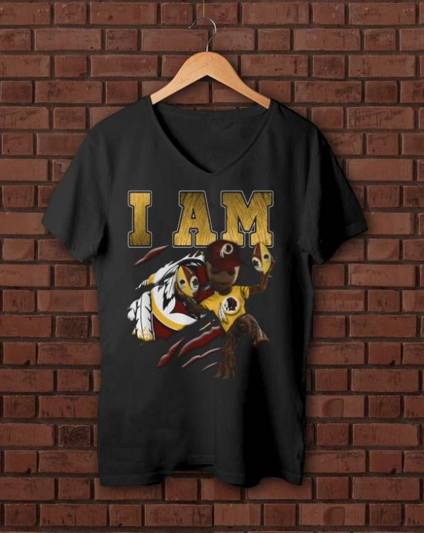 Nice Strong Groot I am Washington Redskins shirt
