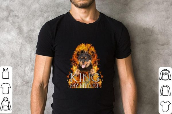Premium Rottweiler King of my heart Game Of Thrones shirt