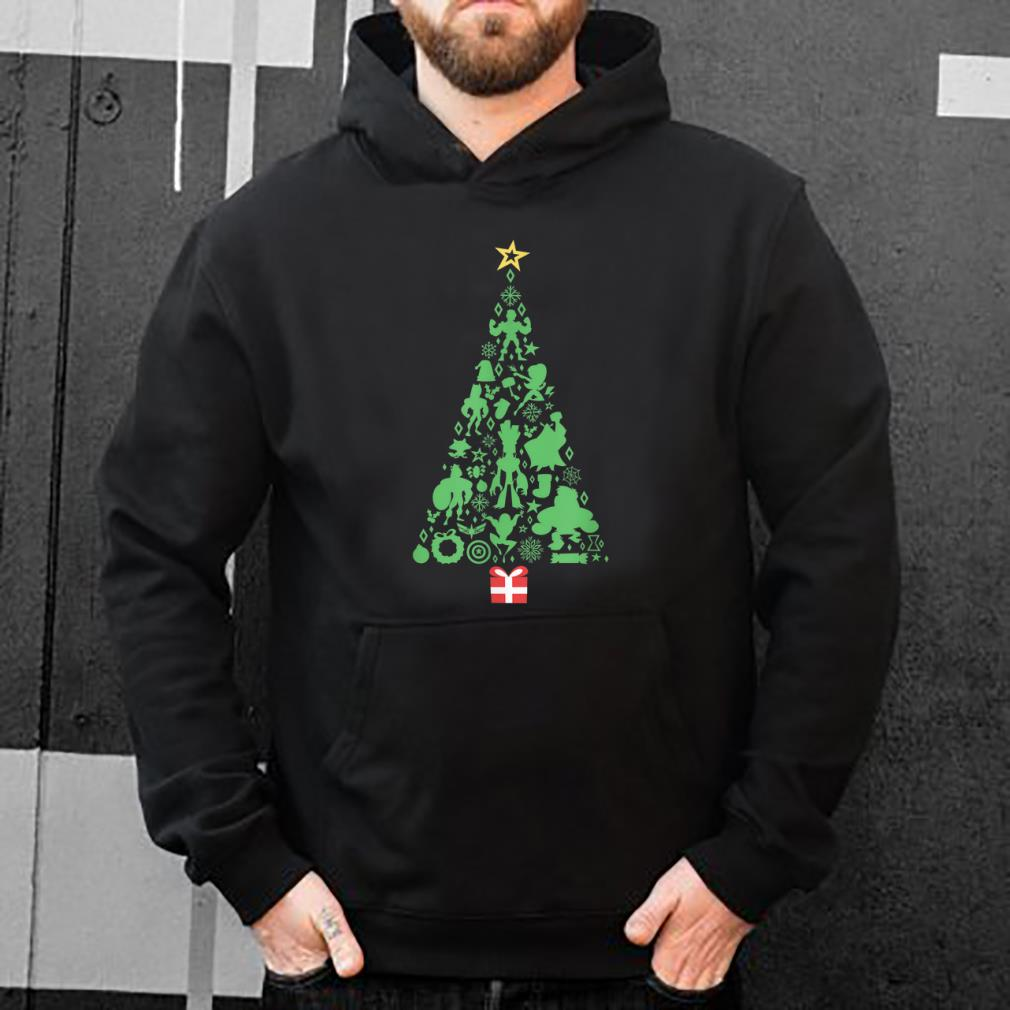 Top Marvel Super Heroes Christmas Tree Silhouettes shirt