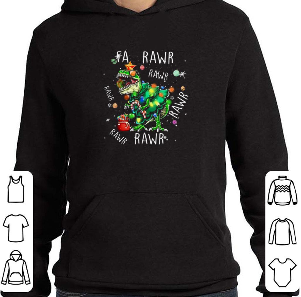 Top T-Rex Dinosaur Fa Rawr Rawr Christmas shirt