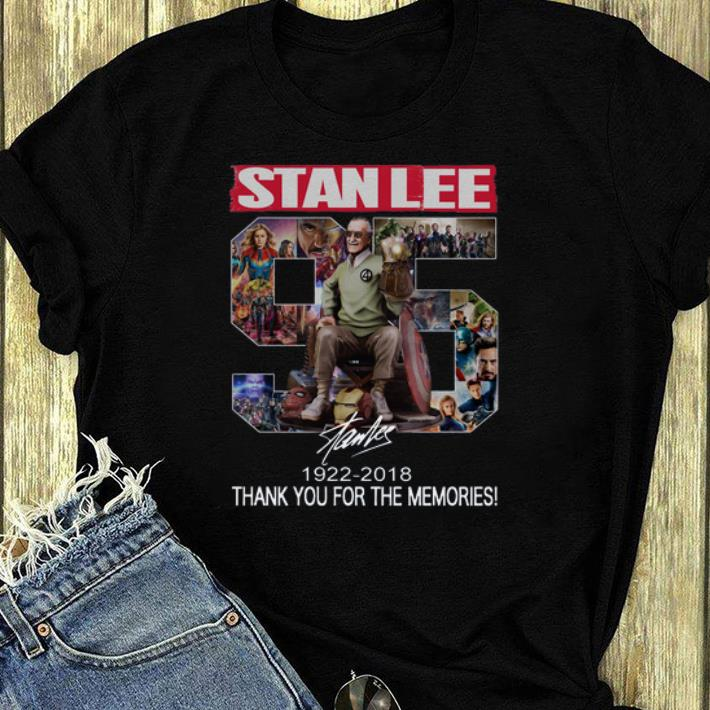 Awesome 96 Years Of Stan Lee thank you for the memories signature shirt