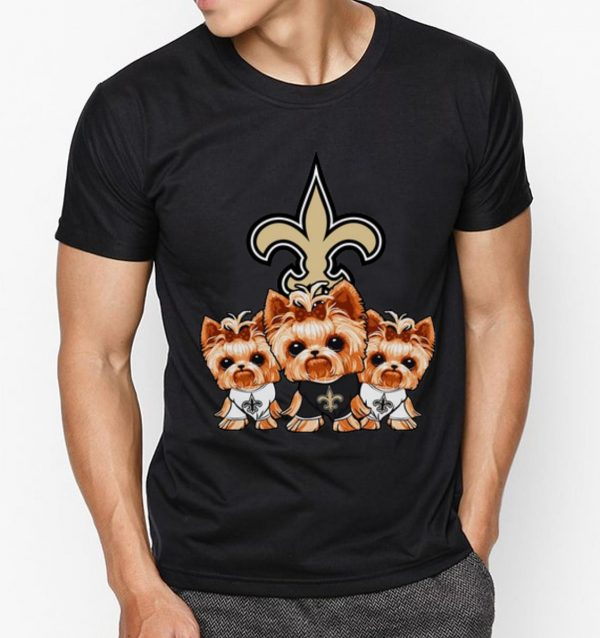 Original Yorkshire Terrier New Orleans Saints Dog Lovers shirt