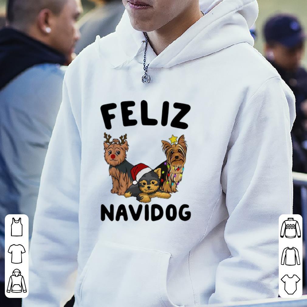 Top Yorkshire Terrier Feliz Navidog Christmas shirt