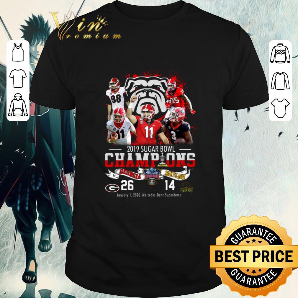 Awesome 2019 Sugar Bowl Champions Georgia Bulldogs Vs Baylor Bears 26 14 Shirt 1 1.jpg