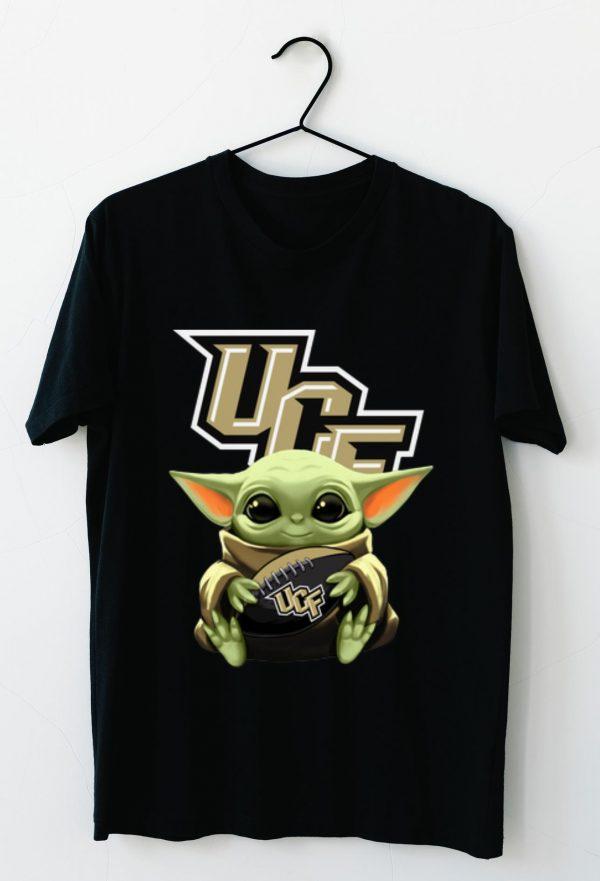 Hot Star Wars Baby Yoda Hug NFL UCF Knights shirt
