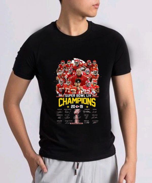 Nice Kansas City Chiefs Super Bowl Liv Champions 2019 Signatures Shirt 2 1.jpg